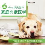 のっぽ先生の家庭の獣医学 vol.06「コロナ禍の分離不安症」